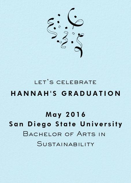 grad invitation